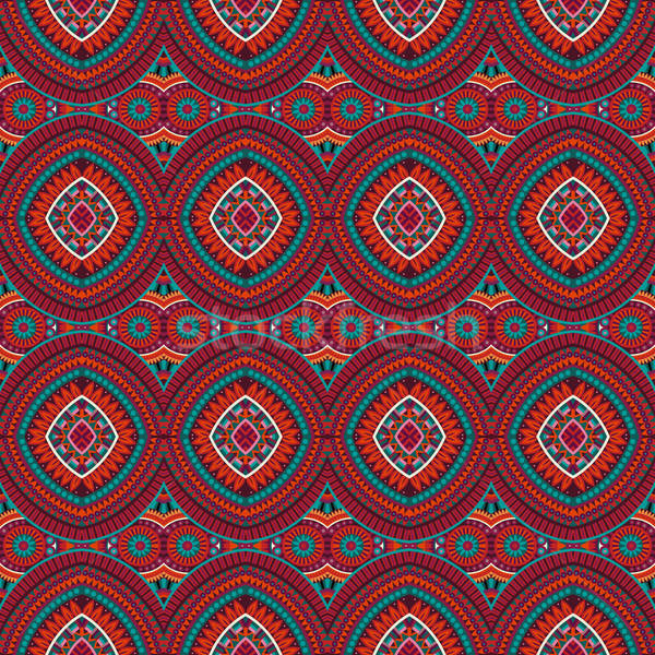 Abstract vector tribal ethnic background  Stock photo © balabolka