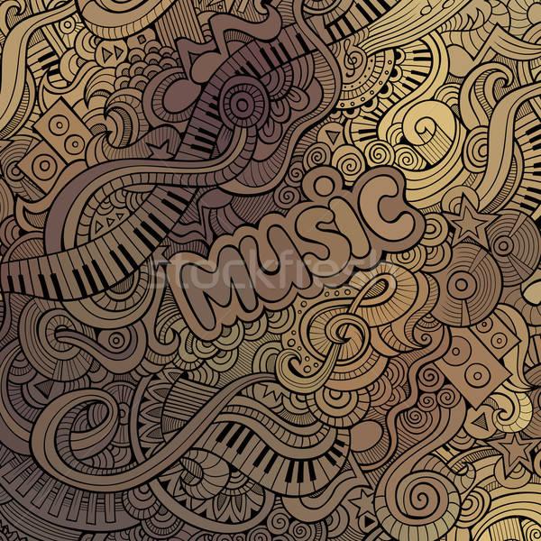 Vector doodles musical background Stock photo © balabolka