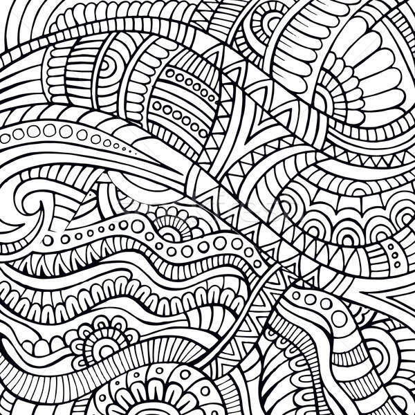Streszczenie wektora plemiennych etnicznych dekoracyjny kontur Zdjęcia stock © balabolka