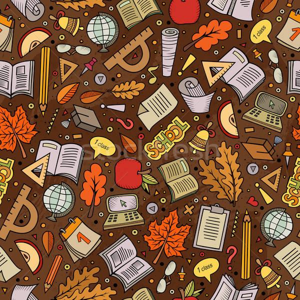 Cartoon powrót do szkoły cute kolorowy Zdjęcia stock © balabolka