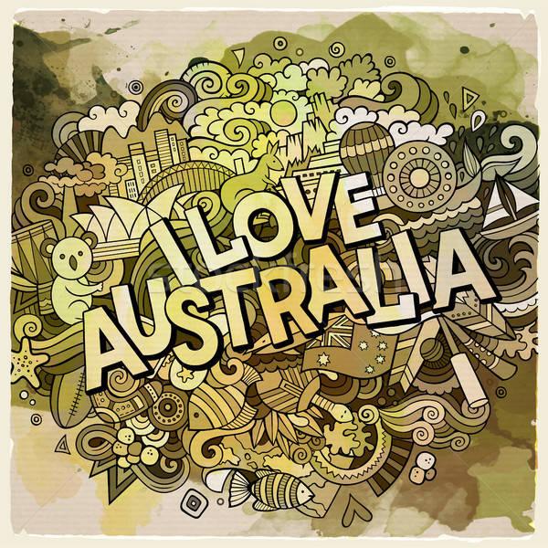 Liefde hand communie land symbolen Stockfoto © balabolka