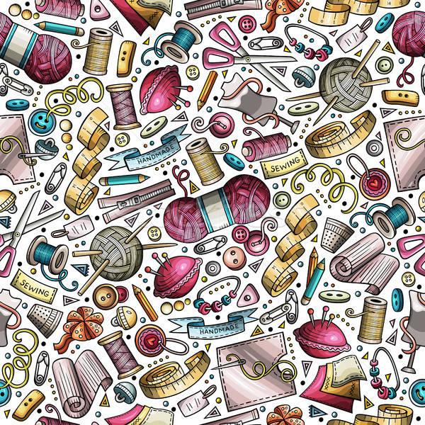 Cartoon cute dibujado a mano hecho a mano colorido Foto stock © balabolka