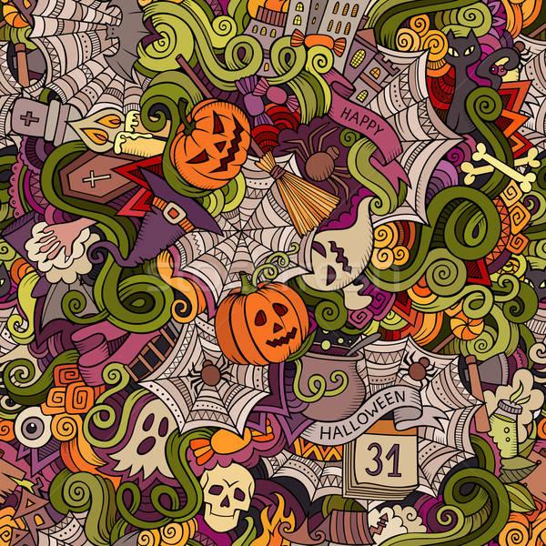 Stockfoto: Cartoon · vector · halloween · symbolen · voedsel