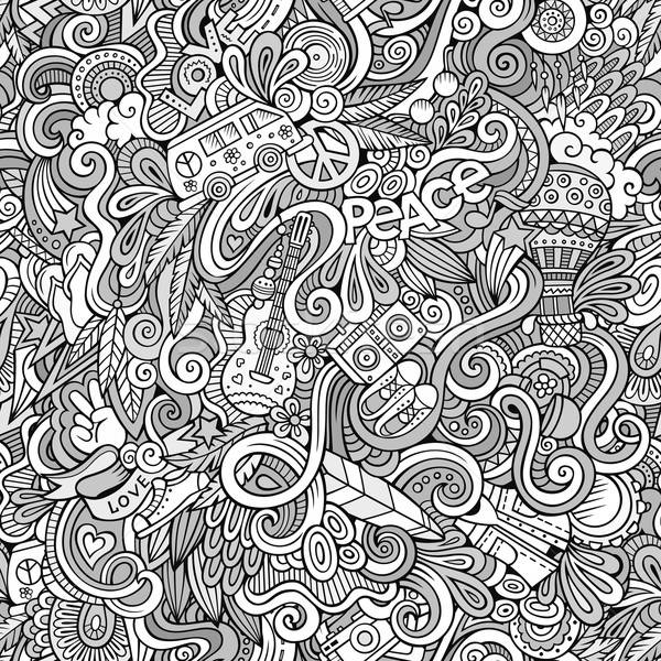 Cartoon hand-drawn Doodles on the subject of Hippie style theme  Stock photo © balabolka
