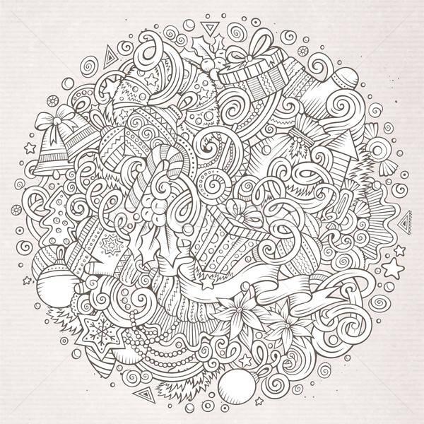 Desenho animado bonitinho ano novo ilustração Foto stock © balabolka