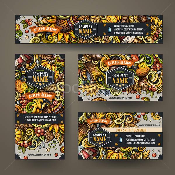 Cartoon scarabocchi corporate identità set Foto d'archivio © balabolka