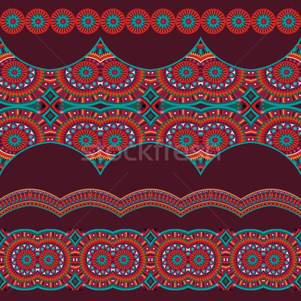 Absztrakt vektor törzsi csíkok szett kisebbségi Stock fotó © balabolka