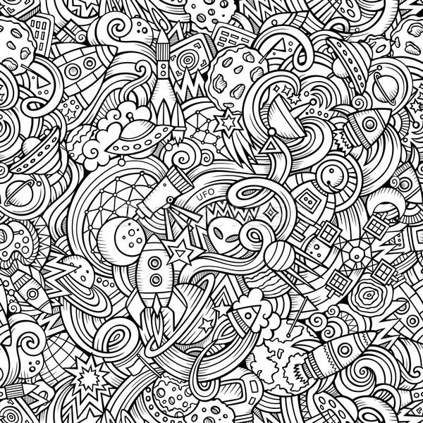 Cartoon hand-drawn doodles on the subject of space pattern Stock photo © balabolka