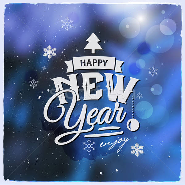 Happy New Year. Creative graphic message for winter design Stock photo © balabolka