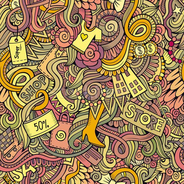 Foto stock: Venda · compras · desenho · animado