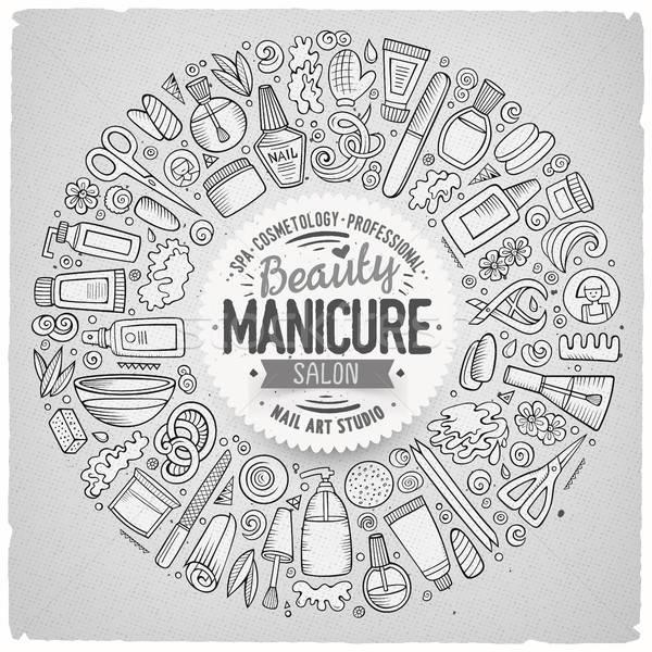 Vector set of Manicure cartoon doodle objects Stock photo © balabolka