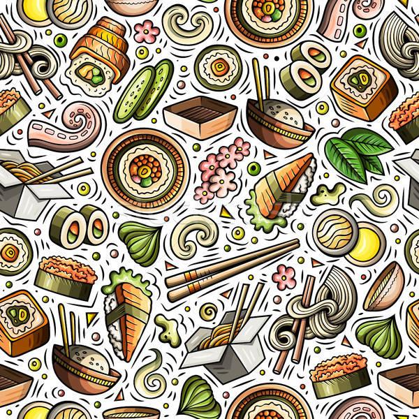 Cartoon cute Japan voedsel Stockfoto © balabolka