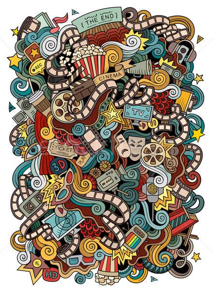 Foto stock: Desenho · animado · bonitinho · cinema · ilustração