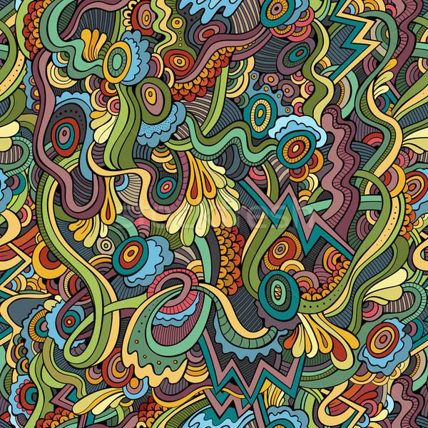 抽象 向量 裝飾的 民族 手工繪製 商業照片 © balabolka
