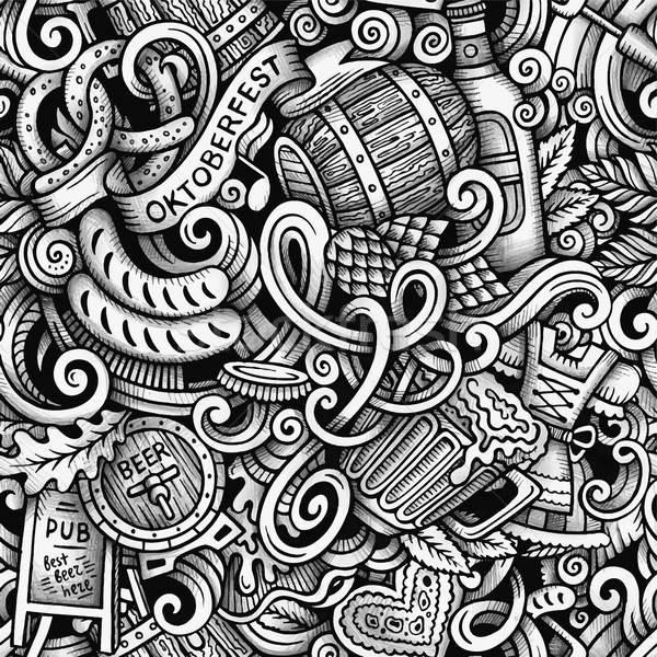 Cartoon scarabocchi line arte Foto d'archivio © balabolka