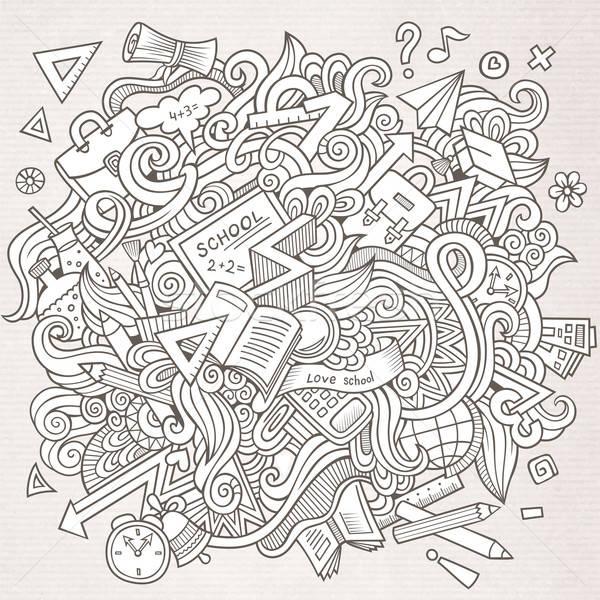 Rajz vektor vázlatos firkák kézzel rajzolt iskola Stock fotó © balabolka