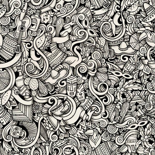 Karikatür karalamalar latin amerika amerikan stil Stok fotoğraf © balabolka