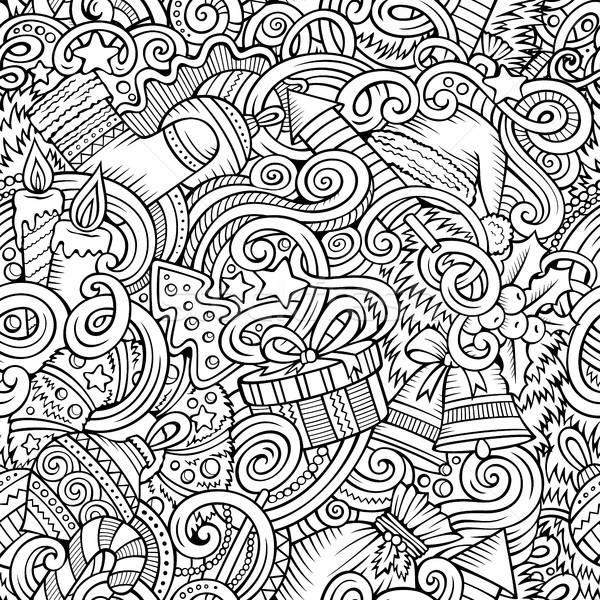 Desenho animado bonitinho ano novo linha Foto stock © balabolka