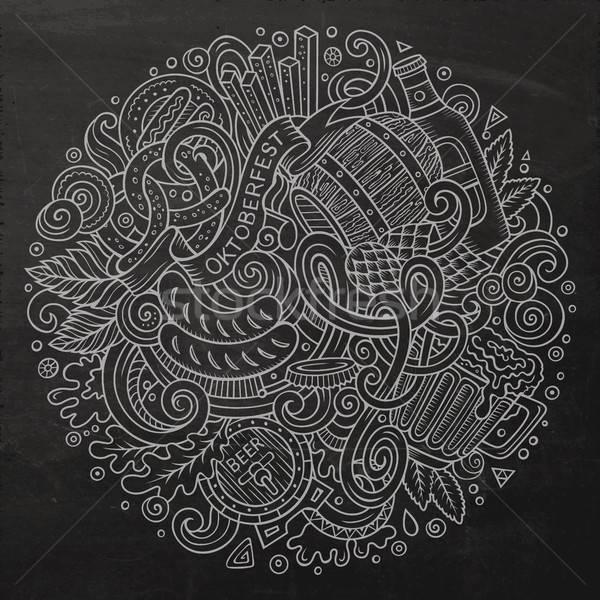 漫画 かわいい 手描き オクトーバーフェスト 実例 ストックフォト © balabolka