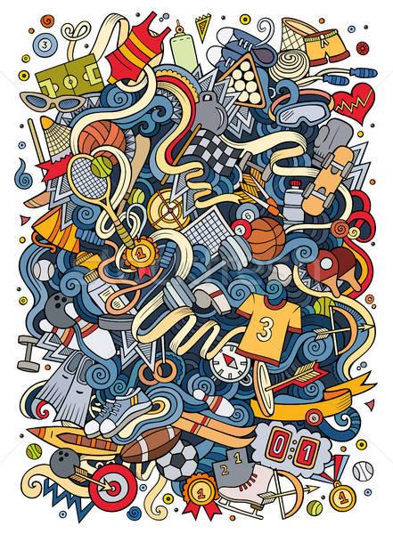 Desenho animado bonitinho esportes ilustração Foto stock © balabolka