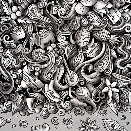 Rajz vektor firka hálaadás vázlatos terv Stock fotó © balabolka