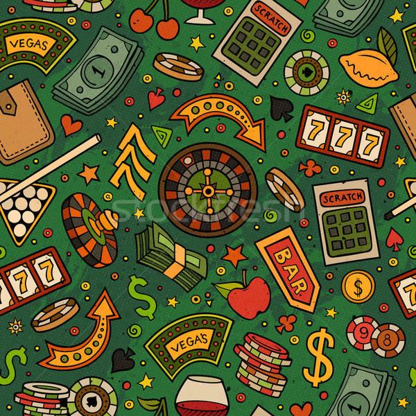 漫画 カジノ ゲーム シンボル オブジェクト ストックフォト © balabolka