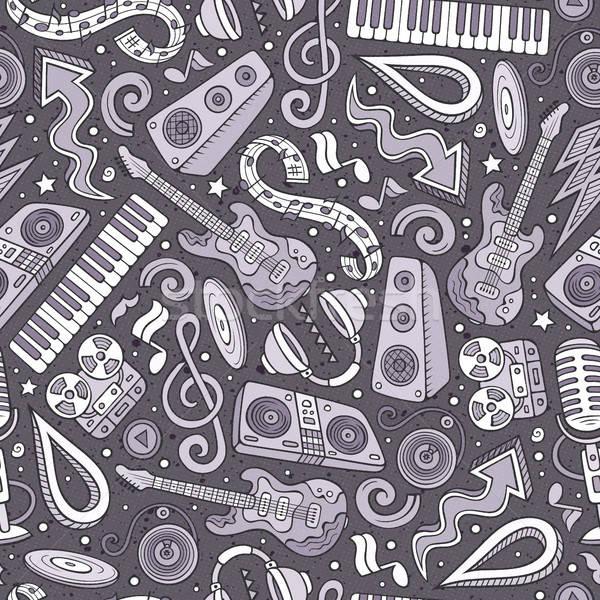 Stock fotó: Rajz · diszkó · zene · végtelen · minta · szimbólumok · tárgyak