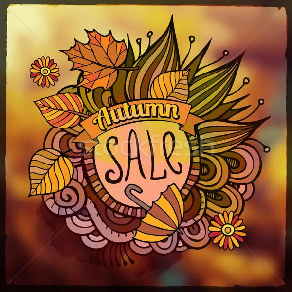 向量 裝飾的 秋天 出售 模糊 分子 商業照片 © balabolka