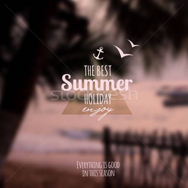 Creative graphic message for your summer design Stock photo © balabolka
