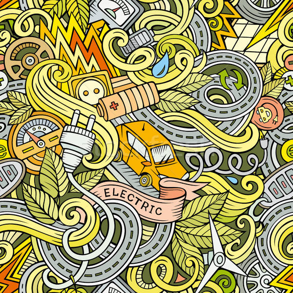 Desenho animado bonitinho elétrico veículo Foto stock © balabolka