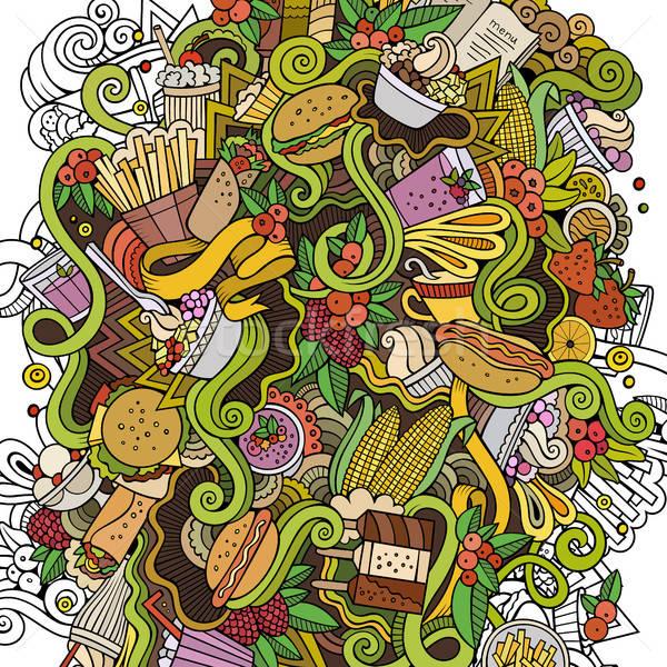 Foto stock: Desenho · animado · bonitinho · ilustração · colorido
