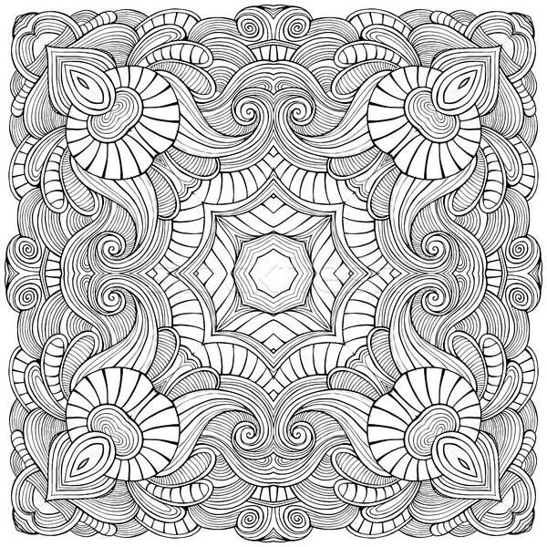Abstract vector ethnic sketchy background Stock photo © balabolka