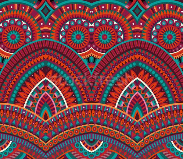 Tribal ethnischen abstrakten Vektor Blume Stock foto © balabolka