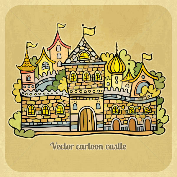 Cartoon fairy-tale castle. Vector illustration Stock photo © balabolka