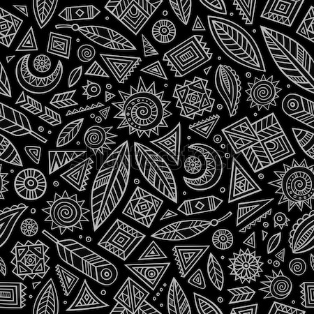 Tribali nativo americano sketch set simboli Foto d'archivio © balabolka