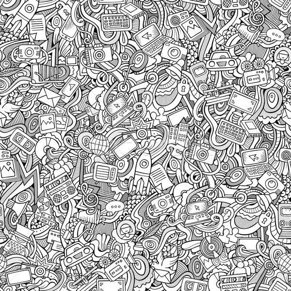 Cartoon wektora bazgroły social media techniczne transportu Zdjęcia stock © balabolka