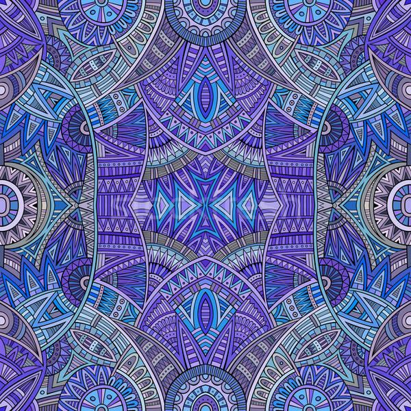Absztrakt törzsi kisebbségi végtelen minta vektor terv Stock fotó © balabolka