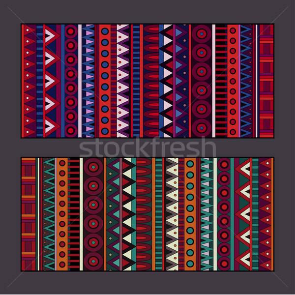 племенных этнических набор аннотация вектора Баннеры Сток-фото © balabolka