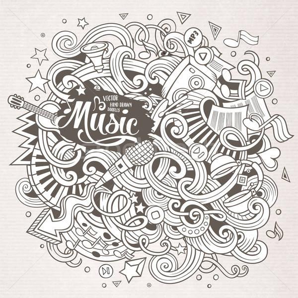 Desenho animado musical ilustração linha arte Foto stock © balabolka