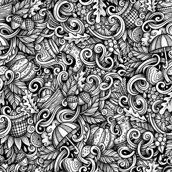 ストックフォト: 漫画 · かわいい · 秋 · 手描き