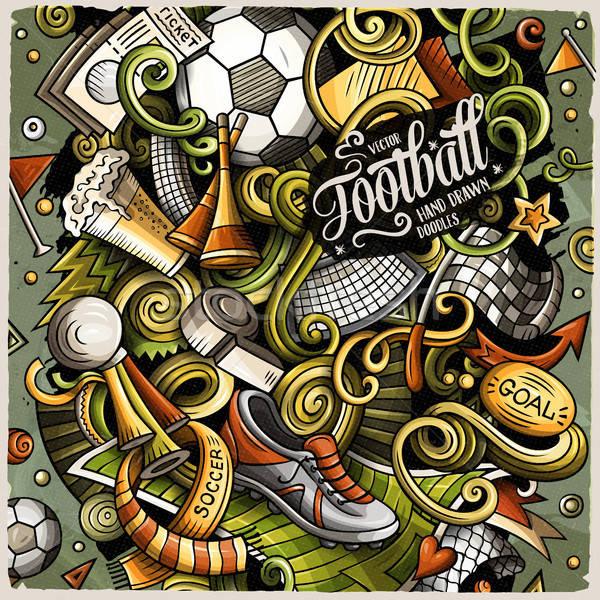 Cartoon vettore scarabocchi calcio illustrazione colorato Foto d'archivio © balabolka