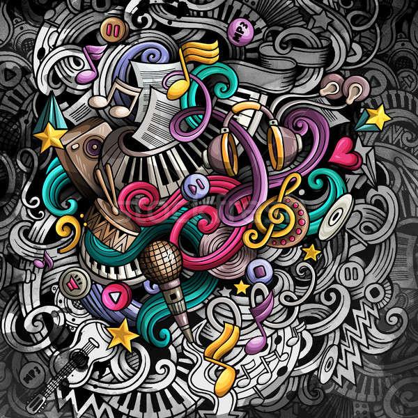 Foto stock: Música · ilustração · criador · musical · colorido