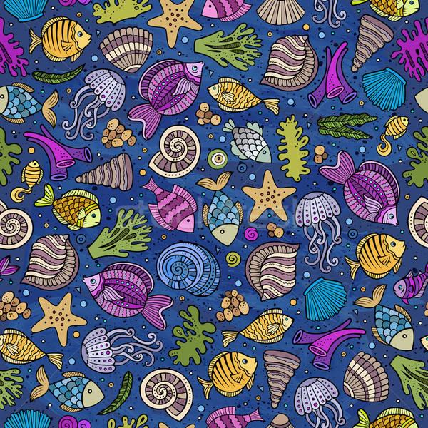 Cartoon воды жизни морем красочный Сток-фото © balabolka