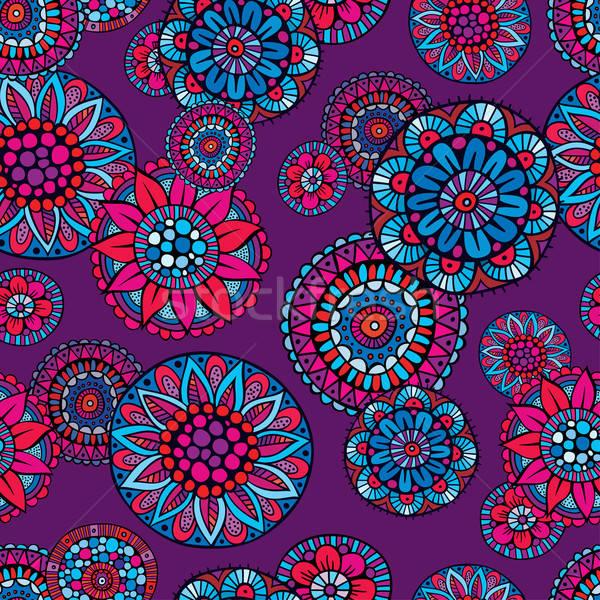 Ornamental fantasy floral vector seamless pattern Stock photo © balabolka