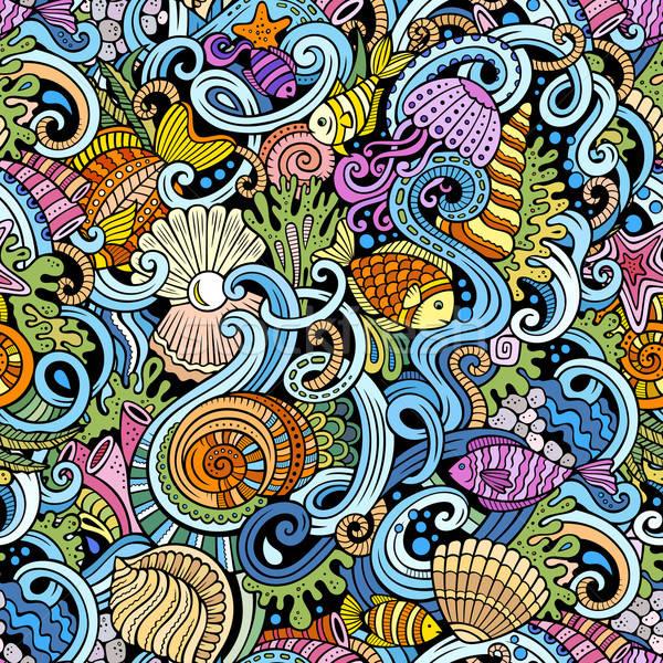 Сток-фото: Cartoon · воды · жизни · красочный