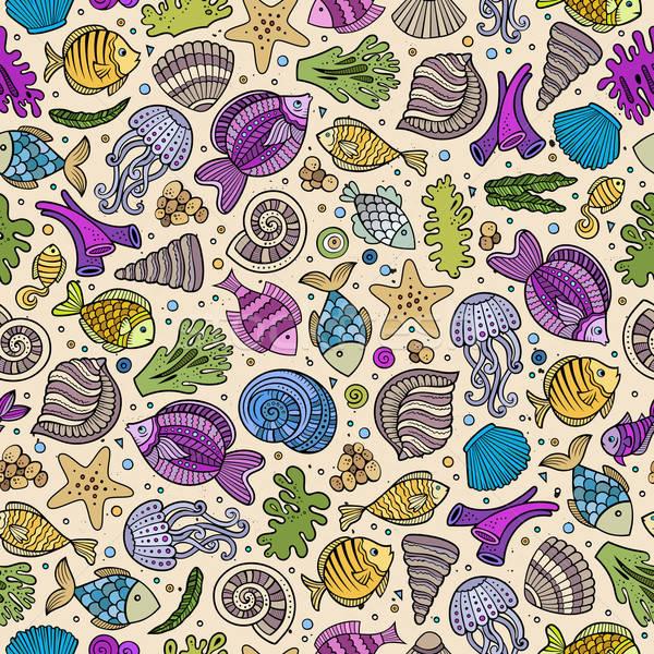 Сток-фото: Cartoon · воды · жизни · морем · красочный