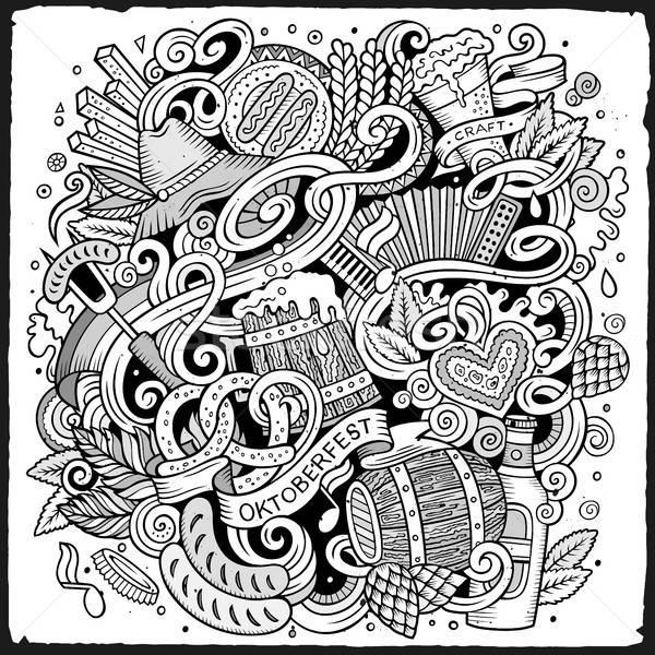 Desen animat drăguţ oktoberfest ilustrare Imagine de stoc © balabolka