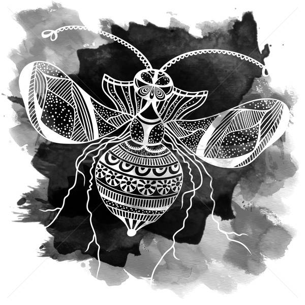 Vector decorative insect butterfly art Stock photo © balabolka