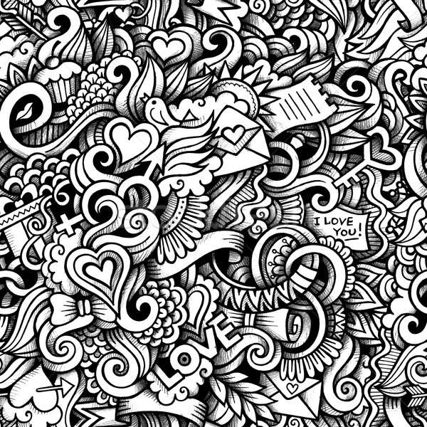 Cartoon doodles on the subject of love style theme Stock photo © balabolka