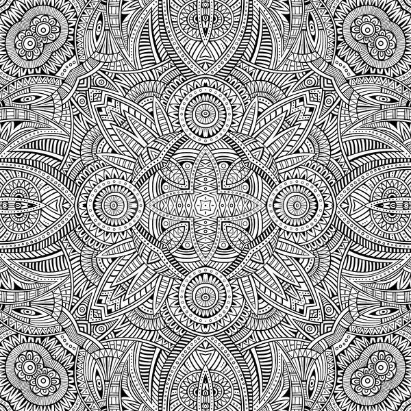 Abstract vector decorative ethnic seamless pattern Stock photo © balabolka